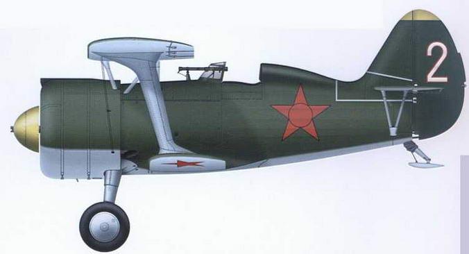 И-15бис из состава 13-й оаэ 6-й бригады ВВС КБФ, 1940 г.