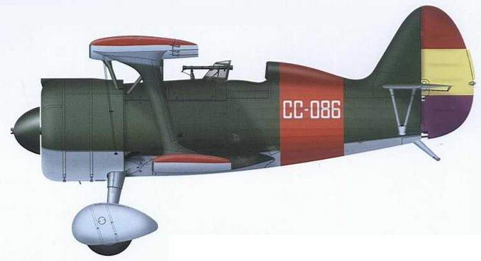 И-15бис ВВС республиканской Испании