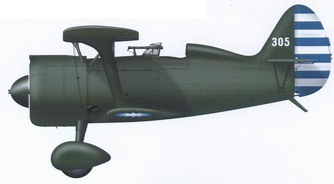 И-15бис 3-й авиагруппы ВВС Китая, 1941 г.