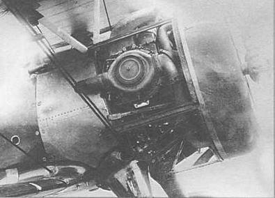 И-15бис ТК, заводской №5977 со снятыми внешними и внутренними капотами двигателя