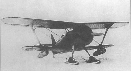И-15бис с прямоточными воздушно-реактивными двигателями ДМ-2, подвешенными под нижним крылом.