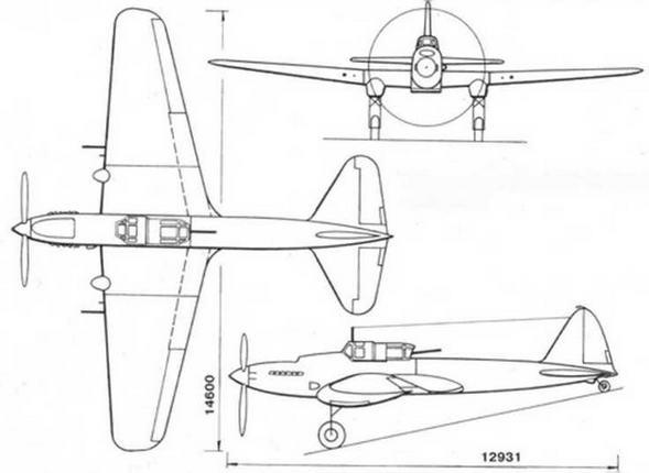 Штурмовик Ил-АМ-42 (Ил-8 первый опытный)