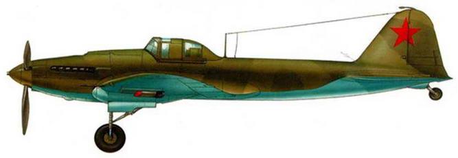 Опытный одноместный штурмовик ЦКБ-55П (Ил-2). 1940 г.