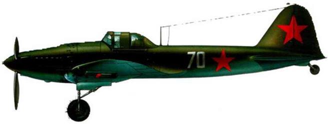 Серийный одноместный штурмовик Ил-2. Сталинградский фронт. 1942 г.