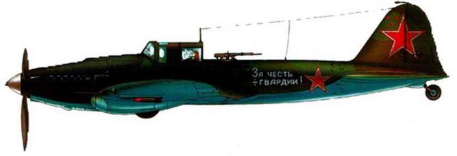Двухместный штурмовик Ил-2. Черное море. 1944 г. Фонарь кабины воздушного стрелка снят.