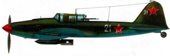 Серийный двухместный штурмовик Ил-2. Под самолетом подвешена авиабомба ФАБ-250. Берлинская операция. 1945 г.