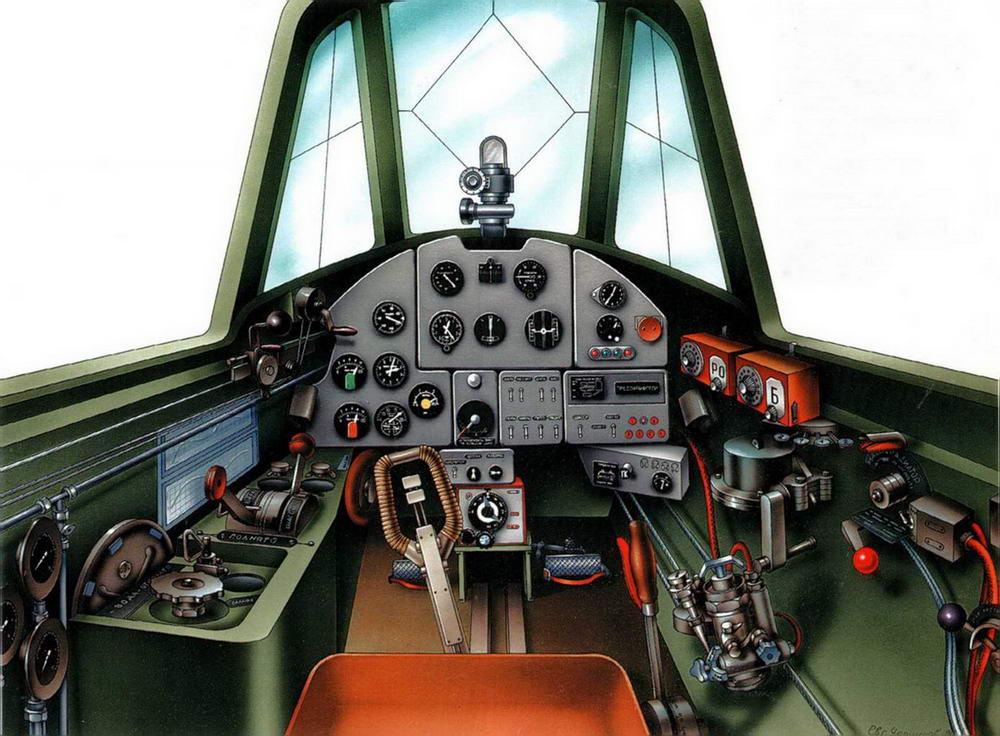 Интерьер кабины Ил-2