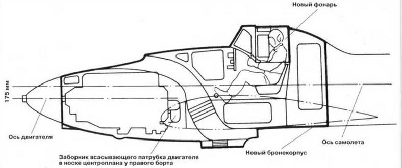 Компоновка бронекорпуса ЦКБ-55П (Ил-2)