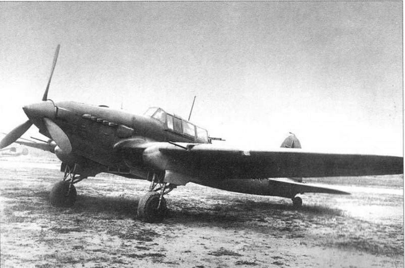 Опытный двухместный штурмовик Ил-2. Москва, Центральный аэродром, весна 1942 г.