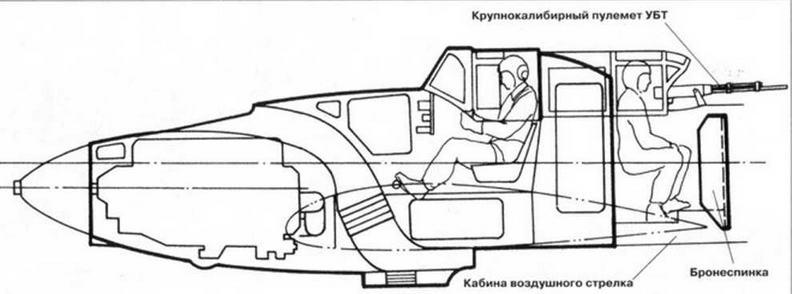 Компоновка бронекорпуса двухместного Ил-2