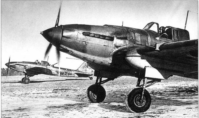 Звено штурмовиков на старте. Ленинградский фронт, 1944 г.