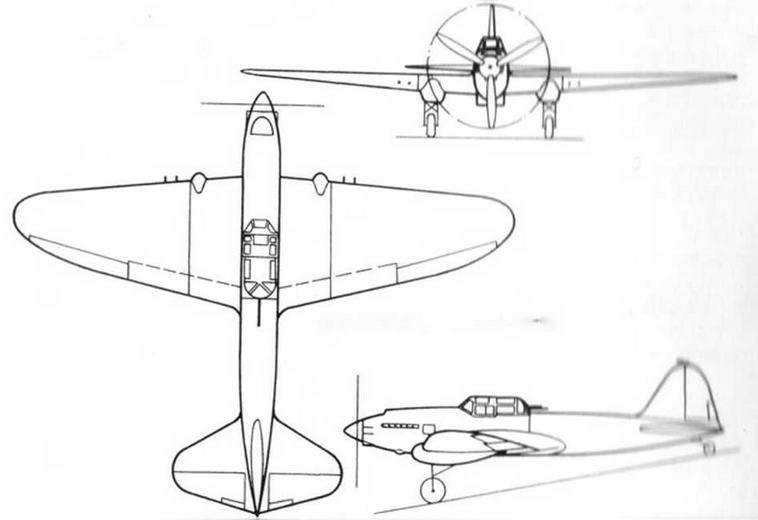 Общий вид самолета ЦКБ 56