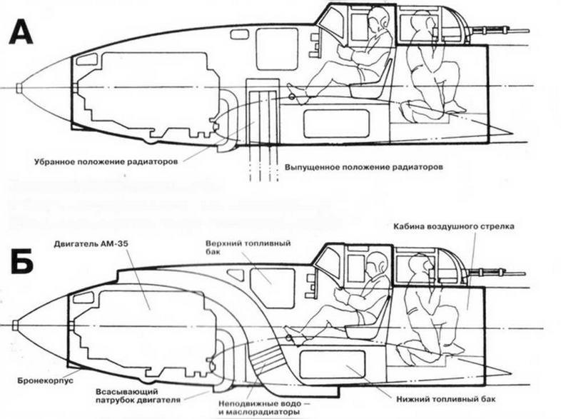 Компоновка бронекорпуса ЦКБ-55.