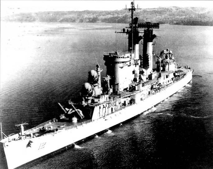 «Колумбус» (CG-12, бывший CAG-12, бывший СА-74)— второй чисто ракетный крейсер американского флота. Он вошел в состав ВМС после модернизации в начале 60-х годов. Крейсер вооружен комплексами «Талос» и «Тартар». Две огромные антенны РЛС сопровождении воздушных целей SPS-49 изысканно дополнены меньшими по размерам антеннами РЛС коррекции траектории полета ракет на среднем участке SPW -2.