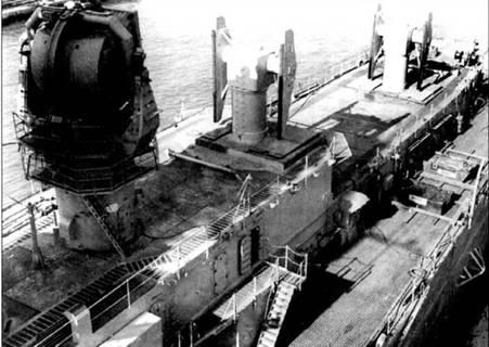 В корме крейсера установлены пусковые установки двух зенитно-ракетных комплексов «Терьер» и антенна РЛС Мк 25. Катапульты, краны, кормовая башня главного калибра в ходе переделки артиллерийского крейсера в ракетный были демонтированы.