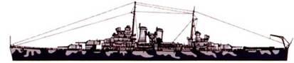 Камуфляж левого борти крейсера «Уичита».