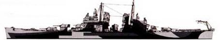 Камуфляж левого борта крейсера «Канберра».