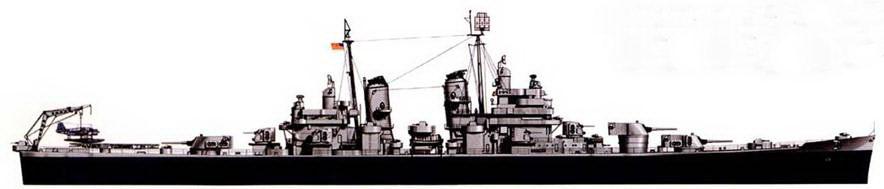 В 1945г. крейсер «Постон» (СА-69) был покрашен по градационной схеме Measure 22, в то время корабль плавал вместе с соединением TF-58 по Тихому океану. В 1951г. корабль модернизирован/ в ракетный крейсер, после чего он сменил обозначение на CG-1.