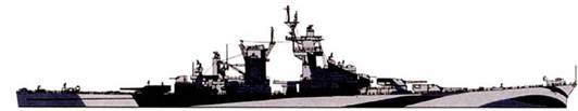 Камуфляжная окраска правого борта крейсера «Гуам».
