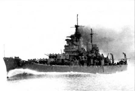 В 1944г. крейсер «Бостон» ни Тихом океане в составе соединений TF-38 и 11–58. Соединение TF-38 входило в состав 3-го флота, TF-58 — в состав 5-го флота. 29 октября 1944г. «Бостон» ушел в рейд к острову Лусон. «Бостон» — второй крейсер типа «Балтимор», построенный Беслихэм Стил в Куинси, шт. Массачусетс.
