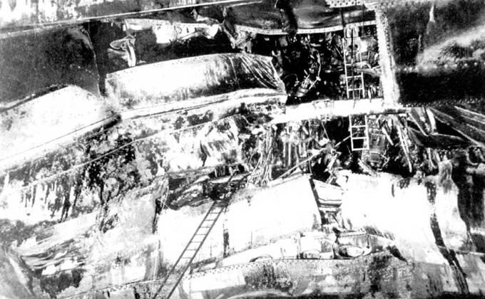 Взрывом торпеды на «Канберре» было убито 23 человека, в корпусе образовалась огромная пробоина, был поврежден силовой набор. Восстановительный ремонт крейсер проходил в Бостоне на военно-морской верфи. Ремонт занял восемь месяцев. На момент окончания войны «Канберра» все еще находилась в ремонте.