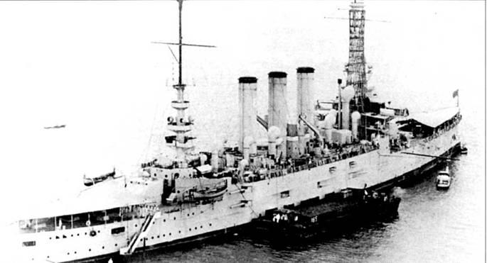 Броненосный крейсер «Питтсбург» (СА-4) изначально носил имя «Пенсильвания» (ACR-4), но название «Пенсильвания» было востребовано линкором ИВ-38, который заложили 16 марта 1915г. Па крейсер «Питтсбург» впервые в истории выполнил посадку ни самолете пилот Юджин Эли. «Питтсбург» был вооружен четырьмя 8-дюймовыми орудиями (длина ствола 40 калибров), 14 6- дюймовыми пушками (длина ствола 50 калибров) и 18 3-дюймовыми орудиями (длина ствола 50 калибров). Орудия меньшего калибра предназначались для отражения угрозы с воздуха (чайки там, альбатросы — чтобы не гадили, иногда — аэропланы).