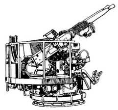 40-мм спаренная пушка