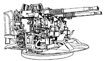 40-мм счетверенная пушка