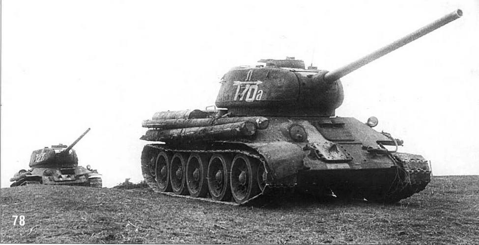Танк Т-34/85 №170 4-й Гвардейской танковой бригады 2-го Гвардейского танкового корпуса. 3-й Белорусский фронт. Июль 1944 г.