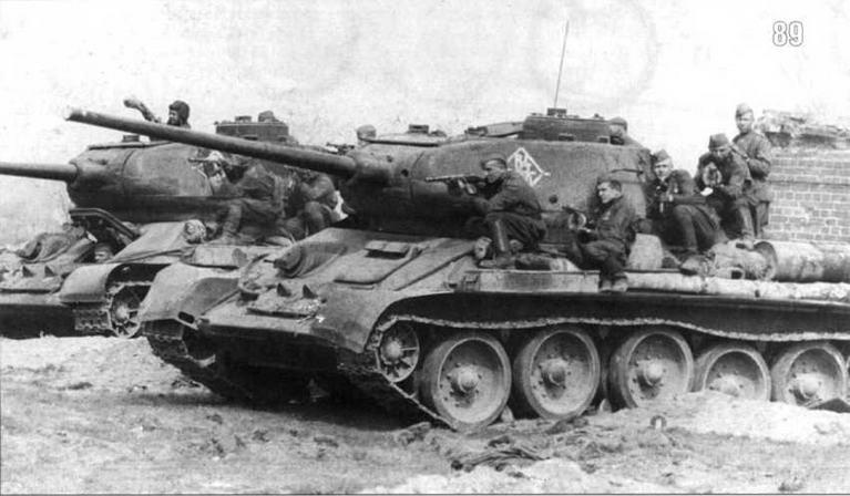 Танк T-34/85 Героя Советского Союза Гвардии старшего лейтенанта В.Ф.Шкиля. 64-я Гвардйская Мехбригада 11-го Гвардейского танкового корпуса. 1-й Белорусский фронт. Апрель 1945 г.