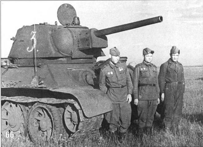 Боевая учеба танкистов перед боями на Орловско-Курском направлении. Часть Гвардии майора В.В.Яблокова. Июнь 1943 г.