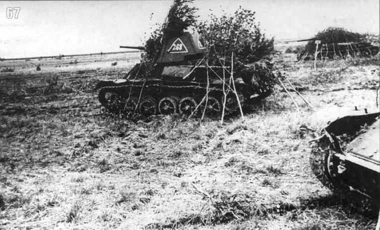 Танки Т-70 в боях на Западном фронте. Лето 1943 г.