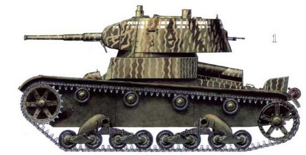 Различные варианты камуфляжа танков Т-26 из состава группы советских войск в Иране. 28-й механизированный корпус, 6-я танковая дивизия. г.Тебриз, сентябрь 1941 г.