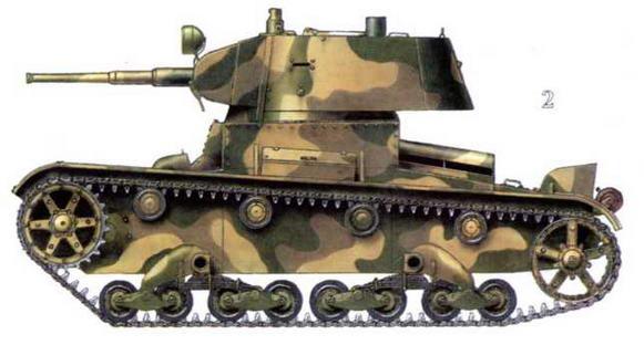 Различные виды камуфляжа танков Т-28 и Т-28Э 1-й Краснознаменной танковой дивизии 1-го мехкорпуса. Карелия, район Аллакурти. Июнь 1941 г.