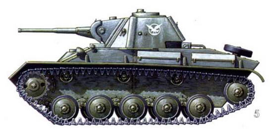 Танк Т-70 командира 8-й самоходно-артиллерийской бригады. Белорусский фронт, февраль 1944 г.