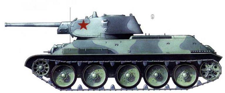 Т-34/76 в весеннем камуфляже. Западный фронт, апрель 1942 г.
