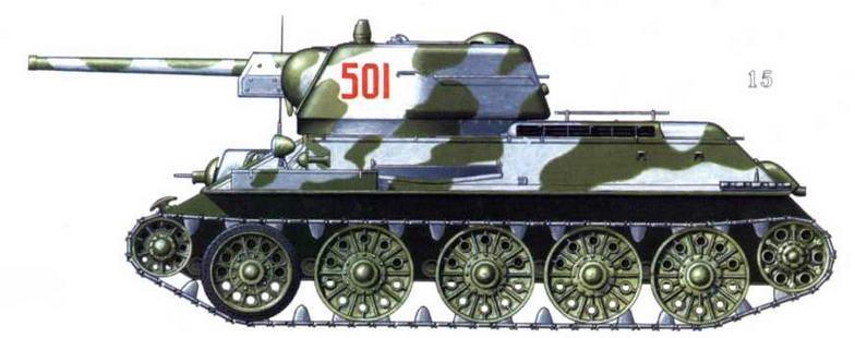 Т-34/76 152-й танковой бригады, г. Кингисепп, февраль, 1944 г.