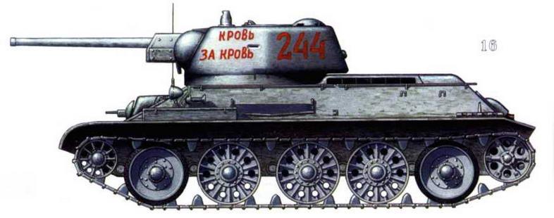 Т-34/76 «Кровь за кровь». Ленинградский фронт, 1944 г.