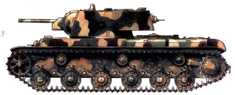 КВ-1 124-й танковой бригады. Ленинградский фронт, 1942 г.