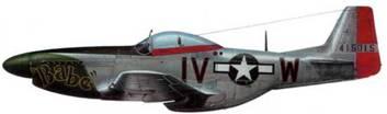 P-5ID-15-NA (44-15015, IV*W. «Babe»). 369th FS. 359th FG. 8th AF. Пилот лейтенант Венон Т. Джадкинс, Англия, ноябрь 1944 года.
