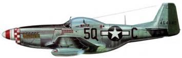 P-51D-20-NA (44-64148, 5Q*C, «Нарру IV»). 504th FS. 339th FG. 8th AF. Пилот полковник Уилям К. Кларк, Англия, апрель 1945 года.