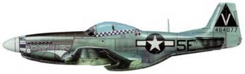 P-51D-20-NA (44-64077. 5Е*. «Estrellita 11»), 385th FS, 364 th FG. 8th AF. Пилот Кертис Смарт, Англия, апрель 1945 года.
