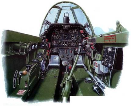 Кабина пилота P-51B-5-NA.