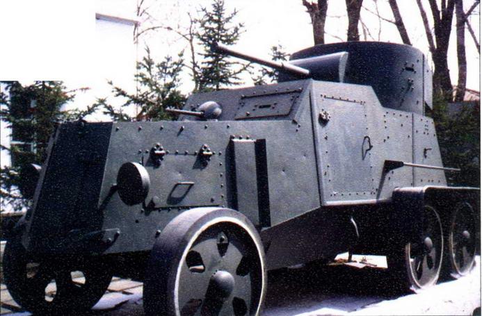Частично восстановленный (довольно примитивной имитацией являются ходовая часть и вооружение) бронеавтомобиль БА-6 находится в п.Пограничный Приморского края
