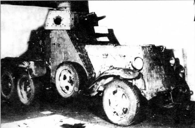 Бронеавтомобиль БА-27М, захваченный финскими войсками. 1940 год
