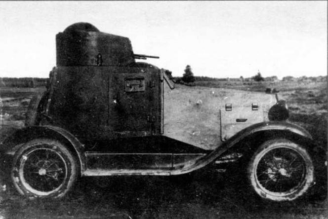 Легкий бронеавтомобиль ФАИ. Вид с правого борта
