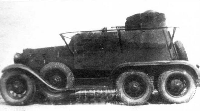 Опытный образец бронеавтомобиля ГАЗ-ТК. 1934 год