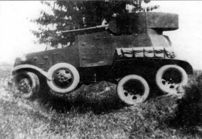Бронеавтомобиль БА-3 во время испытаний на НИБТПолигоне. 1934 год