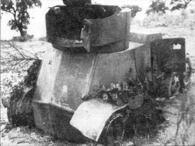 Бронеавтомобиль БА-6 республиканской армии, подбитый в сражении у р. Эбро. Испания, 1937 год