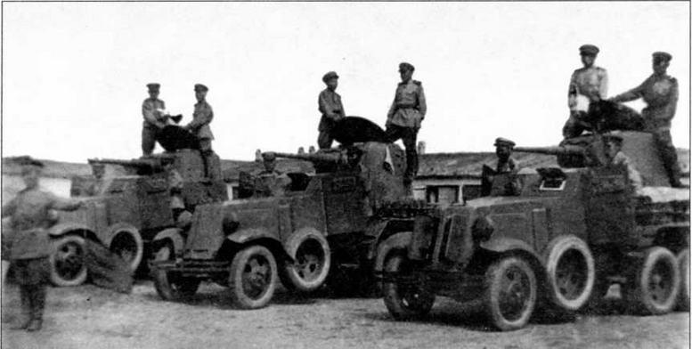 Бронеавтомобили БА-10 Монгольской народнореволюционной армии. Конец 1940-х годов